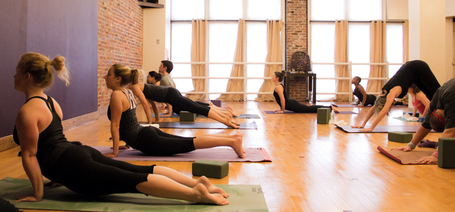 Back bay yogaworks for Living room yoga sessions