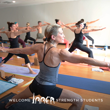 Inner strength class student in standing pose