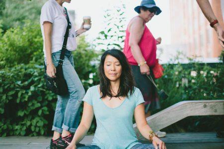 Christine Chen leads Meditation + Oils for Spring on Sunday, February 24 at YogaWorks Palo Alto