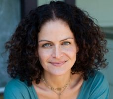 Hala Khouri (pictured here) + Kyra Haglund will lead Trauma-Informed Yoga Intensive September 16-20, 2019 at Yoga Tree SF Training Center in the San Francisco Bay Area.