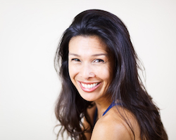 Mari Isaac (seen here) + Melissa Williams will lead Roll + Relax, a Yoga Tune Up and restorative yoga workshop, Sunday, September 8 @ Yoga Tree Telegraph in the Berkeley East Bay area.