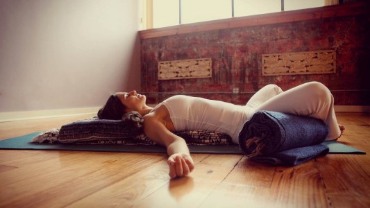 Restorative Bliss + Massage,  a yoga and massage workshop to be led by Mirabai Warkulwiz at YogaWorks Mill Valley Saturday, October 19 in the Marin County North Bay area.