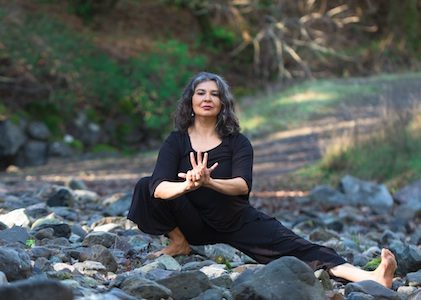Devotional Yoga Flow Training, featuring a merging of Bhakti and traditional yoga asana, will be led by Nubia Teixeira May 28-31, 2020 at Yoga Tree SF Training Center in the San Francisco Bay Area.