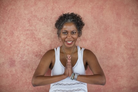 Nikki Myers leads Yoga of 12-Step Recovery, a live online Y12SR training to be broadcast on Zoom Oct. 1-4, 2020.