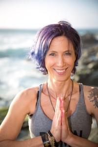 Debra Berardi leads Vinyasa: Defined, Demystified & Deconstructed, a vinyasa flow yoga workshop, on November 10, 2019 at YogaWorks Laguna Beach in Orange County.