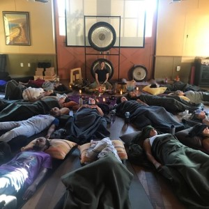 Cindy Meiri leads New Year's Day Yoga Nidra and Sound Immersion, a yoga nidra and sound meditation New Year's Day workshop Yoga Tree SF Valencia in the San Francsico Bay Area.