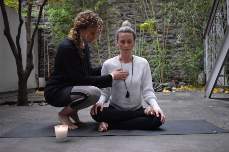Alexis Brink leads Jin/Shin: Yin Yoga & Art of Jin Shin Sunday, December 7 @ YogaWorks NYC Eastside in New York City.