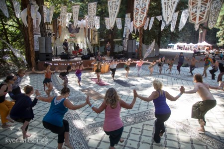 Lucid Dawn leads Community, Connection, & Self-Expression, a community-building yoga workshop, Sunday, April 19 at Yoga Tree Telegraph in Berkeley.