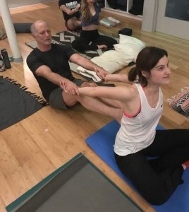 Reg Hunter leads Thai Yoga Partner Workshop, a live-streamed online workshop to be broadcast on Zoom Saturday, July 25.