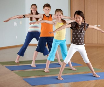 Sheila French leads Yoga for Kids, an online kids yoga workshop series to be livecast on Zoom on four Thursdays in July (9, 16, 23, 30).